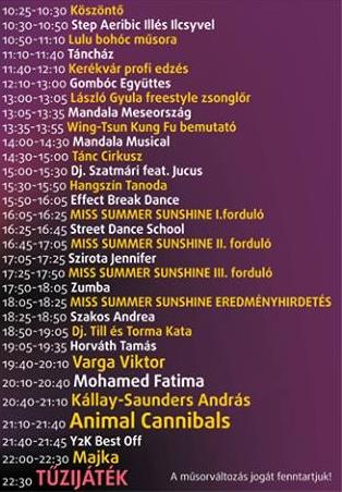 szülinapi programok Zene.hu   Sunshine születésnap 2014: íme a teljes program és a  szülinapi programok