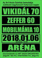 Tripla életműkoncert az Arénában: Vikidál 70, Zeffer 60, Mobilmánia 10